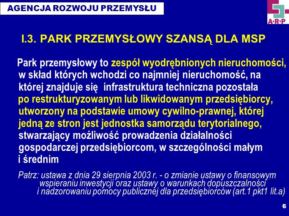 AGENCJA ROZWOJU PRZEMYSŁU 7 I.4.
