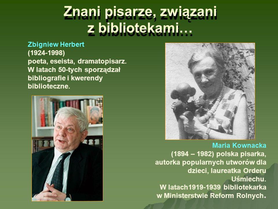 Znani pisarze, związani z bibliotekami… Maria Kownacka (1894 – 1982) polska pisarka, autorka popularnych utworów dla dzieci, laureatka Orderu Uśmiechu