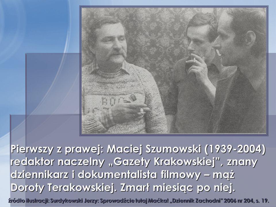 źródło ilustracji: Surdykowski Jerzy: Sprowadźcie tutaj Maćka! Dziennik Zachodni 2006 nr 204, s. 19. Pierwszy z prawej: Maciej Szumowski (1939-2004) r