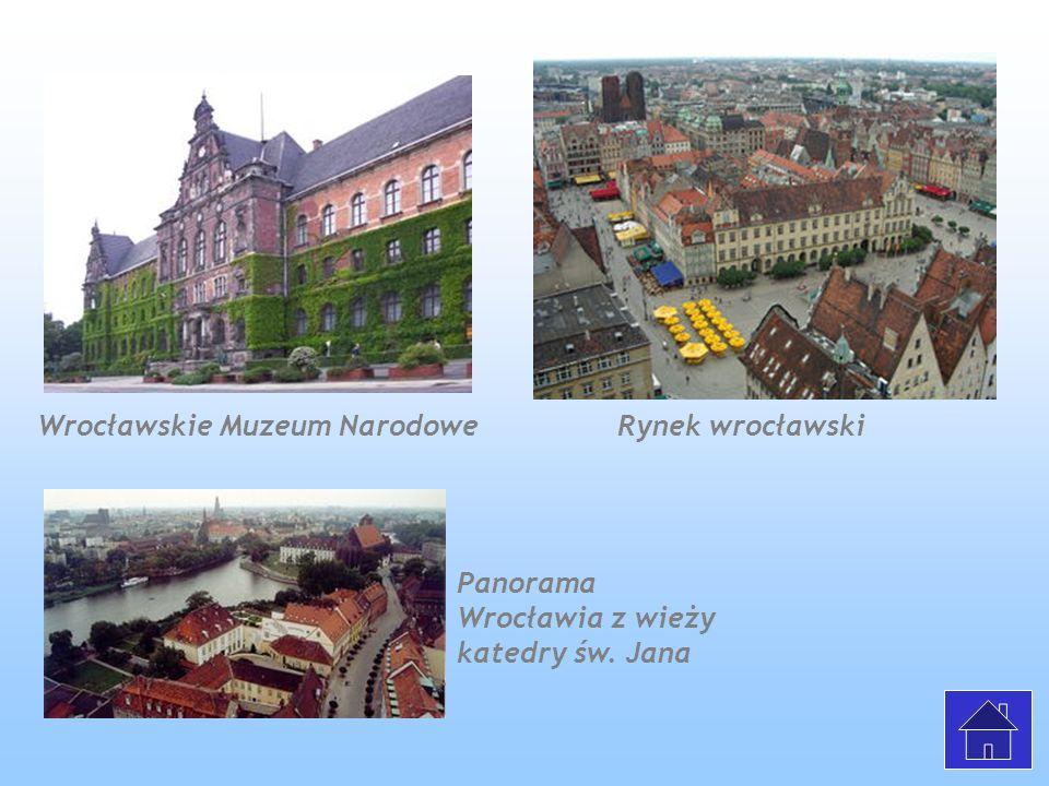 Wrocławskie Muzeum Narodowe Rynek wrocławski Panorama Wrocławia z wieży katedry św. Jana