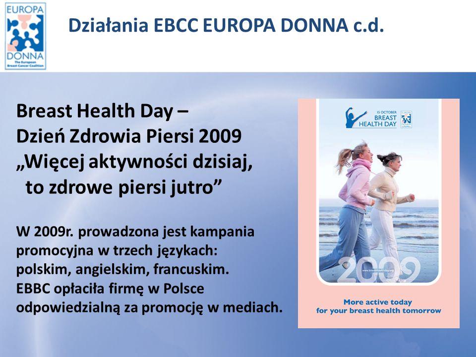Działania EBCC ED c.d.