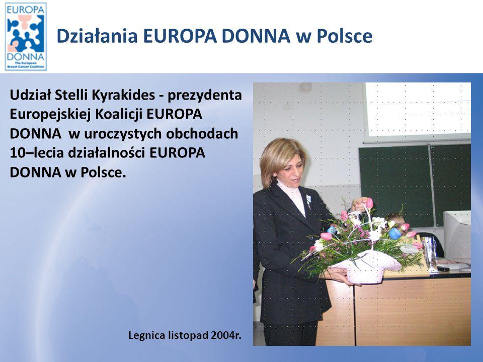 Działania EUROPA DONNA w Polsce Uczymy się same Obowiązkowe szkolenie w marcu 2007r.