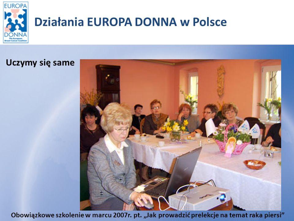 Działania EUROPA DONNA w Polsce Dzielimy się wiedzą Prelekcje Zespół Szkół nr 2 Lubin.