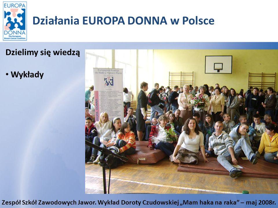 Działania EUROPA DONNA w Polsce Publikacje i ulotki Materiały promocyjne Polskiego Forum EUROPA DONNA