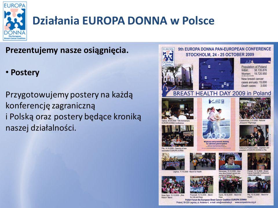 Działania EUROPA DONNA w Polsce Prezentujemy nasze osiągnięcia.
