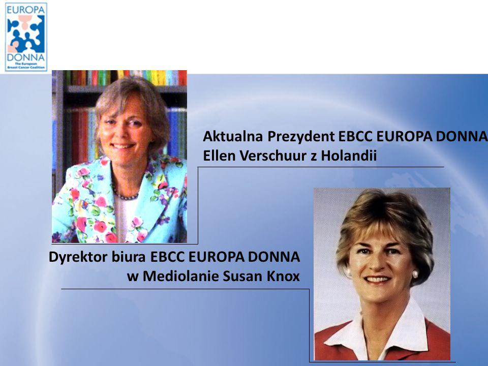Działania EBCC EUROPA DONNA I.Szkolenia w Mediolanie - każdego roku w listopadzie dla 2 przedstawicielek kraju członkowskiego.