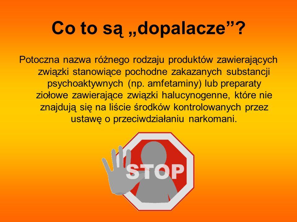 Aspekt prawny Do końca września 2010 roku sprzedaż dopalaczy odbywała się za pośrednictwem wyspecjalizowanych sklepów (tzw.