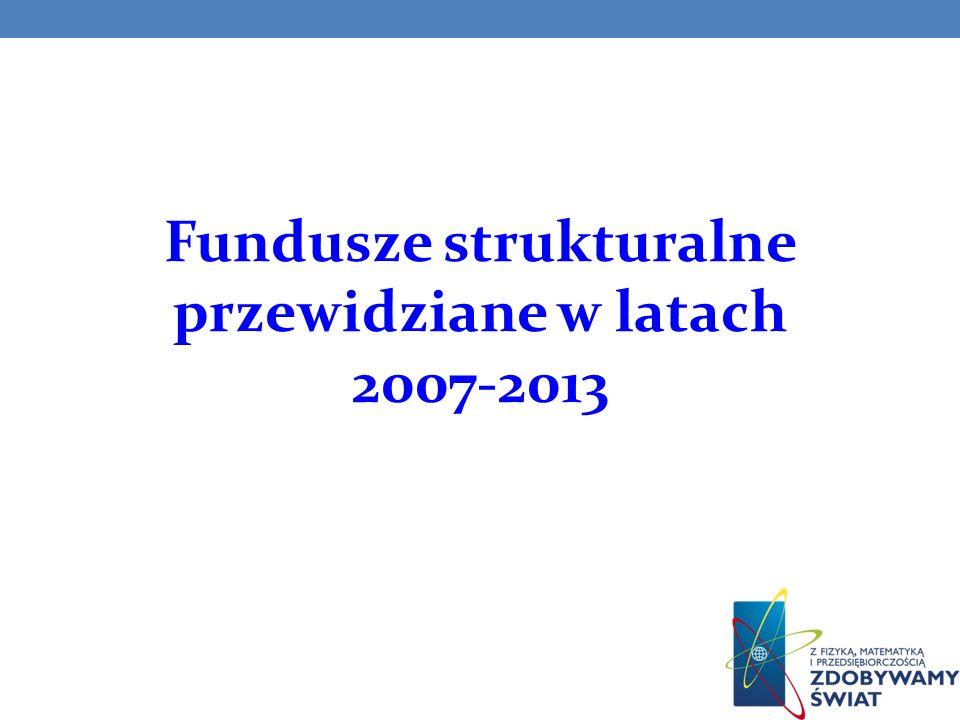 Fundusze unijne w regionalnych programach operacyjnych w latach 2007 - 2013 Alokacja środków z UE w poszczególnych województwach w mln euro
