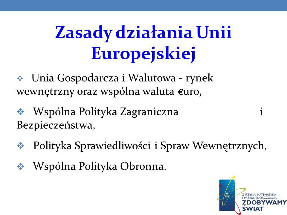 Unia Gospodarcza i Walutowa Traktat Rzymski, który leży u podstaw Unii Europejskiej, przyjął jako zasadę cztery podstawowe swobody gospodarcze: przepływu osób i tworzenia podmiotów gospodarczych, przepływu towarów, przepływu kapitału, świadczenia usług.