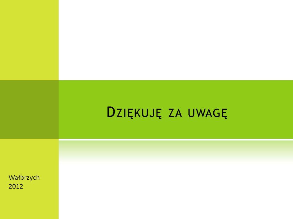 D ZIĘKUJĘ ZA UWAGĘ Wałbrzych 2012