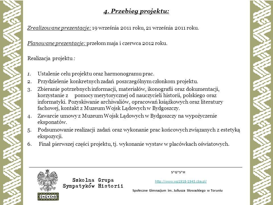 Uszczegółowienie wykonanych prac : - Przygotowanie obszernej prezentacji multimedialnej.