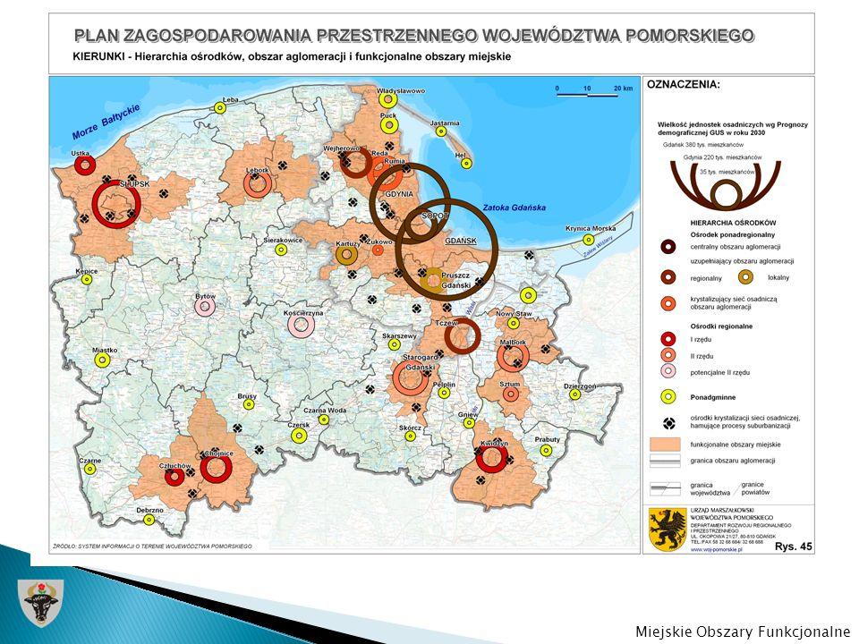 PZPWP określa Chojnice jako ośrodek regionalny I rzędu, pełniący ważną rolę w strukturze obsługi regionu, charakteryzujący się silnymi powiązaniami społeczno-gospodarczymi z Człuchowem oraz Tucholą.