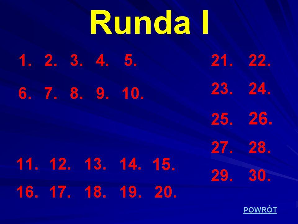 POWRÓT Runda I
