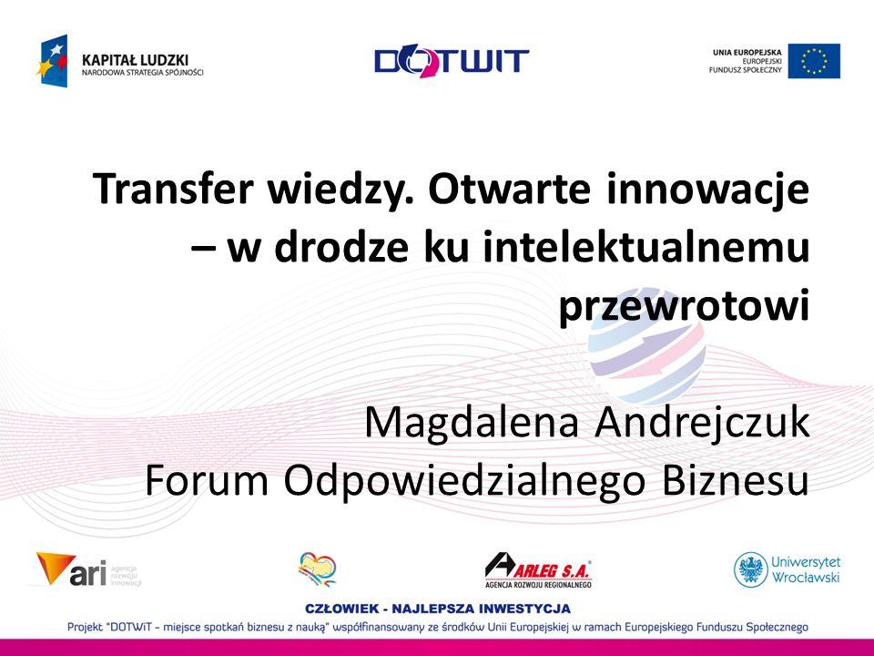 innowacja odpowied zialność zrównoważona i otwarta innowacja otwartość