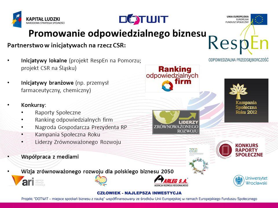 Analizowanie i rozwijanie CSR Doroczny Raport Odpowiedzialny biznes w Polsce.