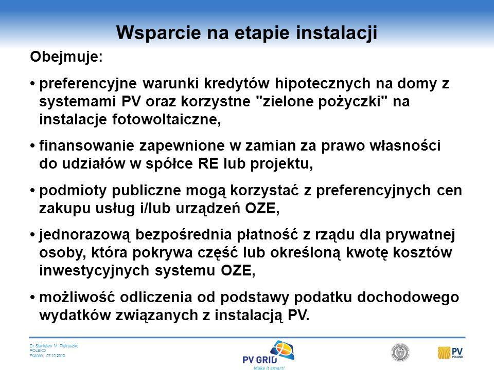 Dr Stanislaw M. Pietruszko POLEKO Poznań, 07.10.2013 Programy