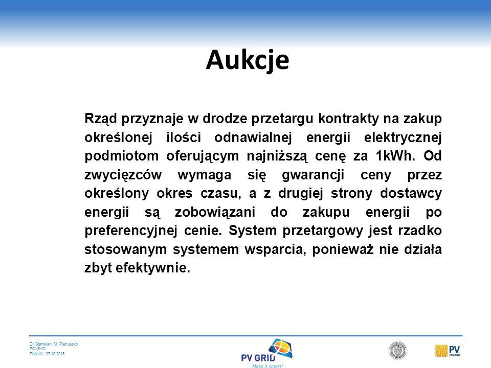 Dr Stanislaw M. Pietruszko POLEKO Poznań, 07.10.2013 Wsparcie na etapie instalacji Obejmuje: preferencyjne warunki kredytów hipotecznych na domy z sys