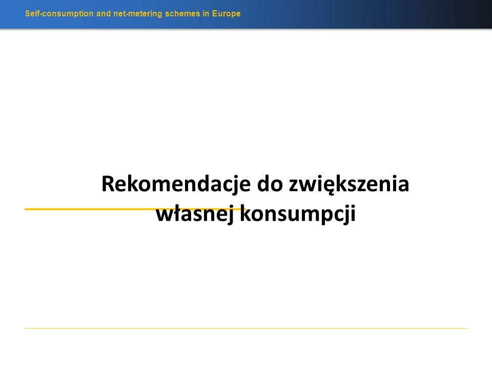 Self-consumption and net-metering schemes in Europe Co z innymi krajami europejskimi? FR Konsultacje o własnej konsumpcji CH Własna konsumpcja od 2014