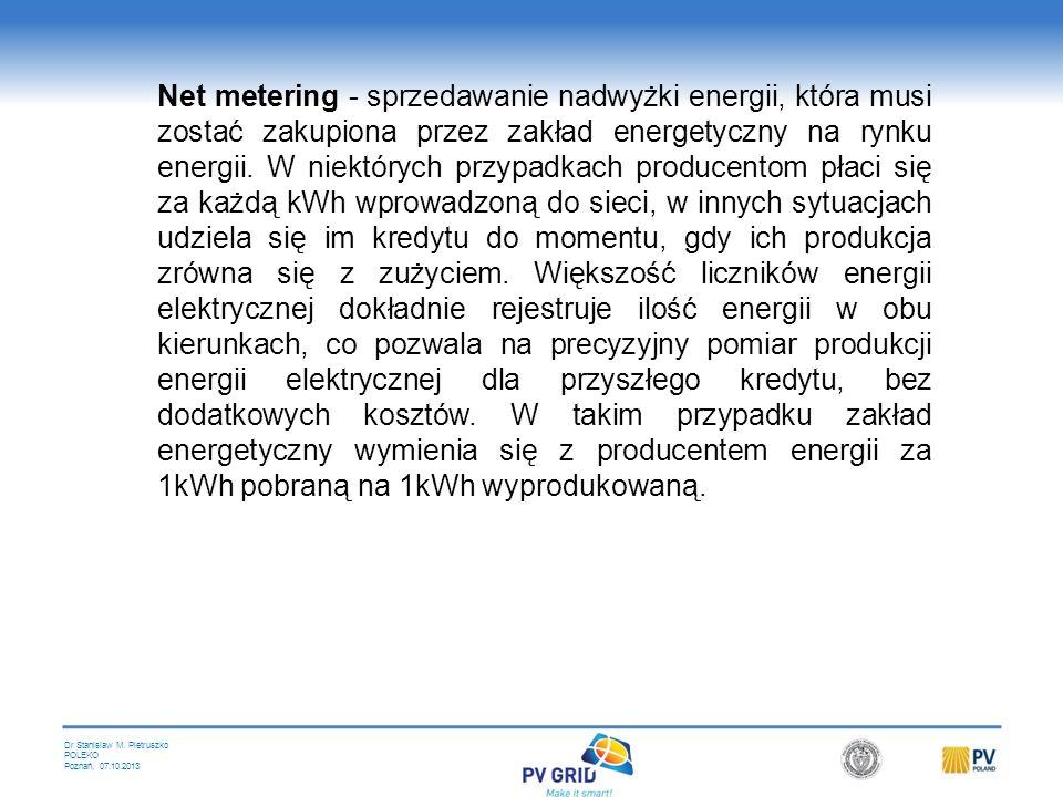 Dr Stanislaw M. Pietruszko POLEKO Poznań, 07.10.2013 Systemy Kwotowe - (Renewable Portfolio Standards - RPS) razem z Zielonymi Certefikatami (Tradeabl