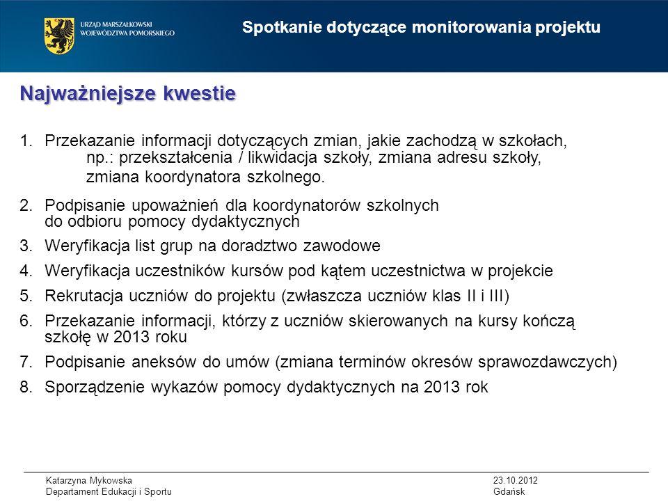 Katarzyna Mykowska Departament Edukacji i Sportu Portal i narzędzie bazy kompetencji narzędzie informatyczne będzie służyć określeniu luk kompetencyjnych dla każdego zawodu, tj.