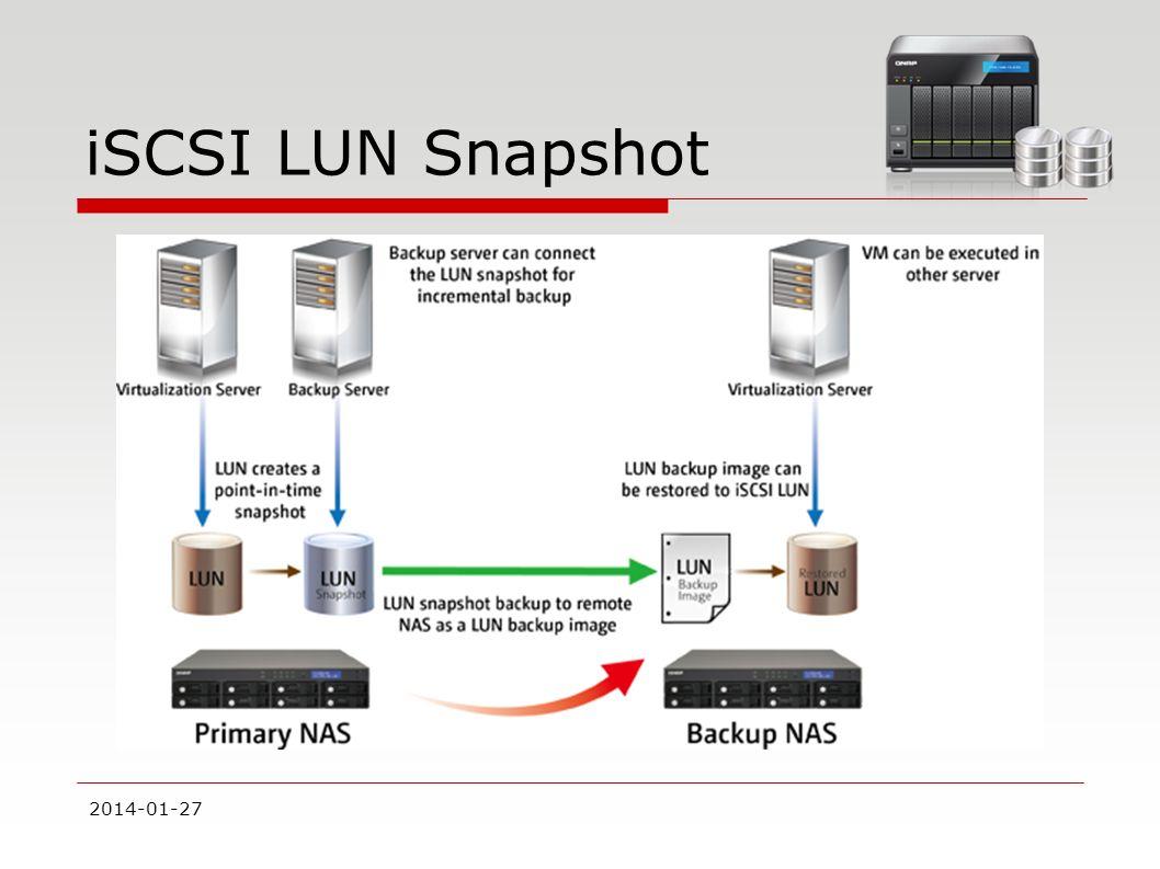 iSCSI LUN Snapshot 2014-01-27