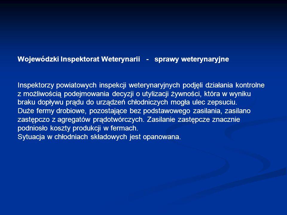 Wojewódzki Inspektorat Weterynarii - sprawy weterynaryjne Inspektorzy powiatowych inspekcji weterynaryjnych podjęli działania kontrolne z możliwością