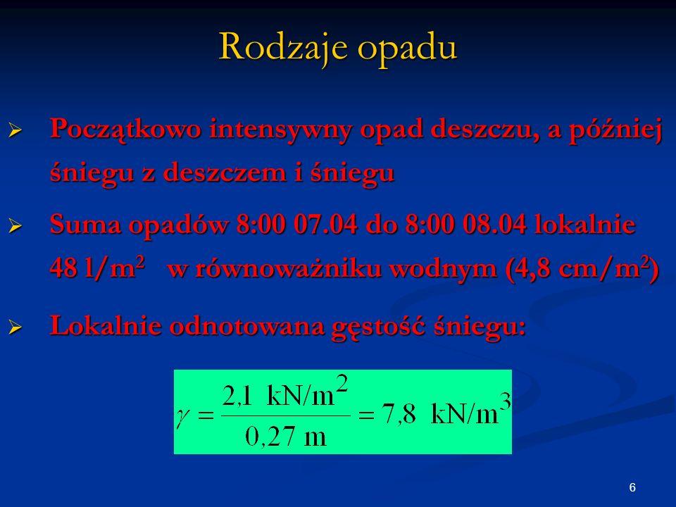 7 Niewielki pobór energii elektrycznej w godzinach nocnych z 07 na 08 04 2008 był przyczyną schłodzenia przewodów napowietrznych linii energetycznych do temperatury zamarzania śniegu, co sprzyjało osadzaniu się sadzi.