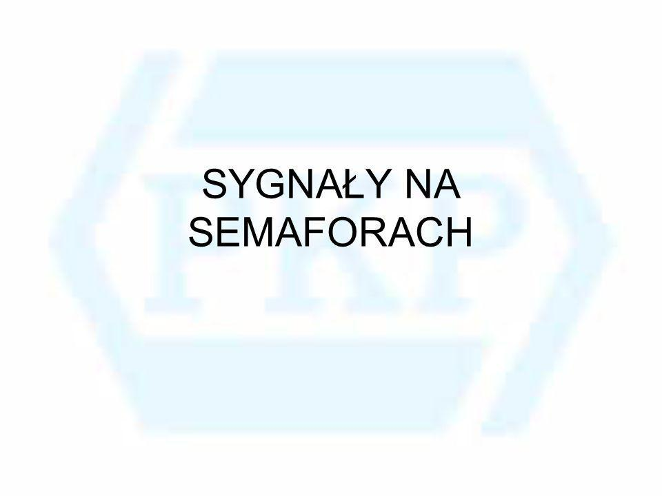 Sygnał Sp4 Semafor wskazuje sygnał zezwalający na jazdę z prędkością zmniejszoną do 40 lub 60 km/h Dwa światła w jednym pionie: dolne – matowobiałe, górne – pomarańczowe migające