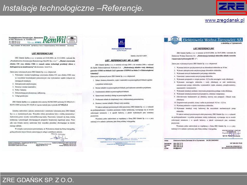 ZRE GDAŃSK SP.Z O.O. www.zregdansk.pl Remonty i modernizacje pomp śmigłowych.