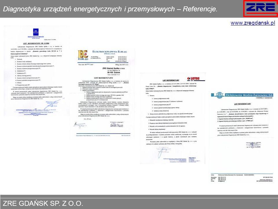 ZRE GDAŃSK SP.Z O.O. www.zregdansk.pl Elektroenergetyka.
