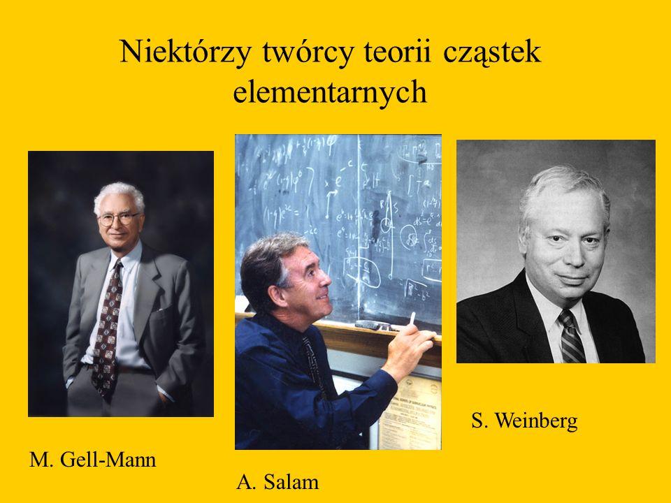 Niektórzy twórcy teorii cząstek elementarnych M. Gell-Mann A. Salam S. Weinberg