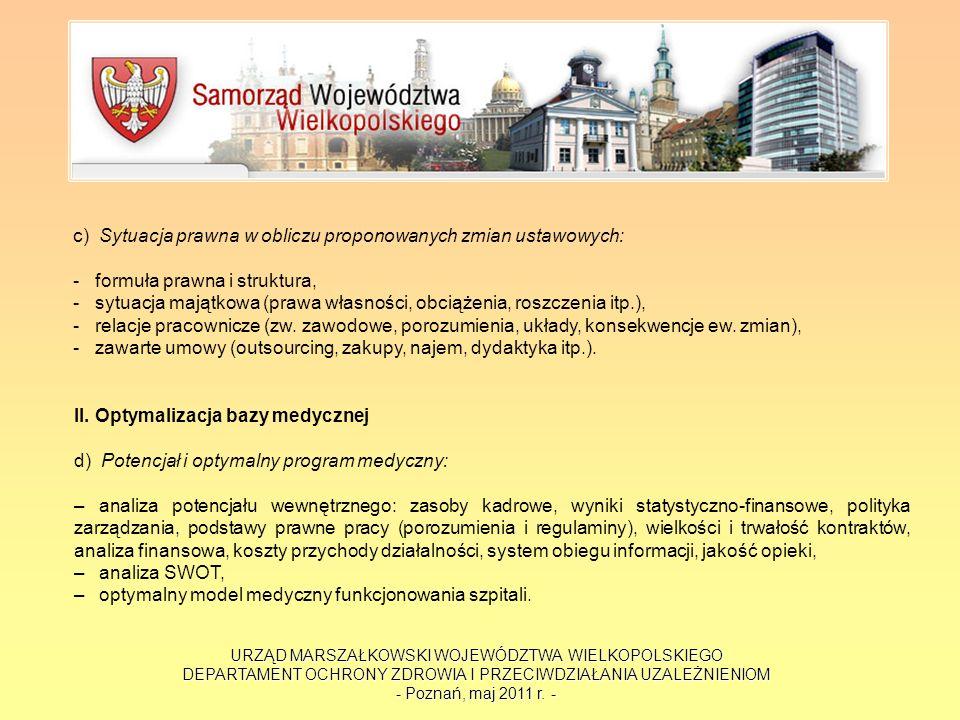 URZĄD MARSZAŁKOWSKI WOJEWÓDZTWA WIELKOPOLSKIEGO DEPARTAMENT OCHRONY ZDROWIA I PRZECIWDZIAŁANIA UZALEŻNIENIOM - Poznań, maj 2011 r. - c) Sytuacja prawn