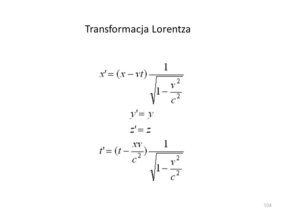Transformacja Lorentza 104