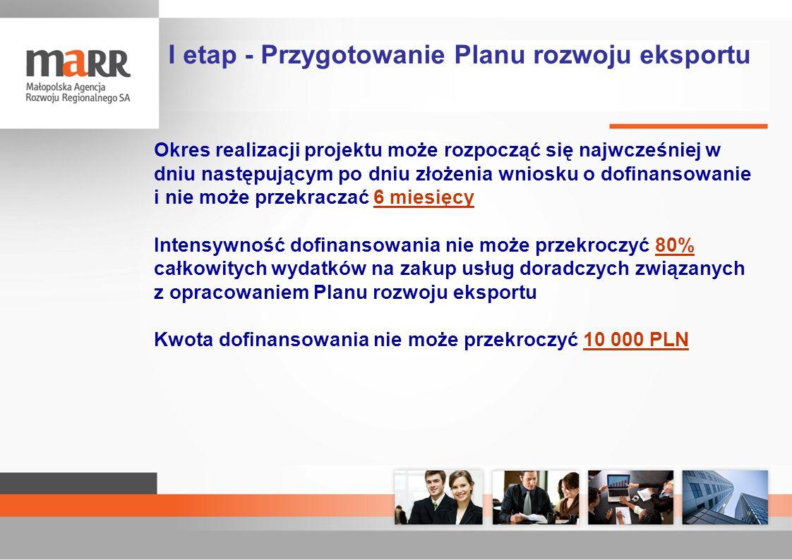 Okres realizacji projektu może rozpocząć się najwcześniej w dniu następującym po dniu złożenia wniosku o dofinansowanie i nie może przekraczać 6 miesi