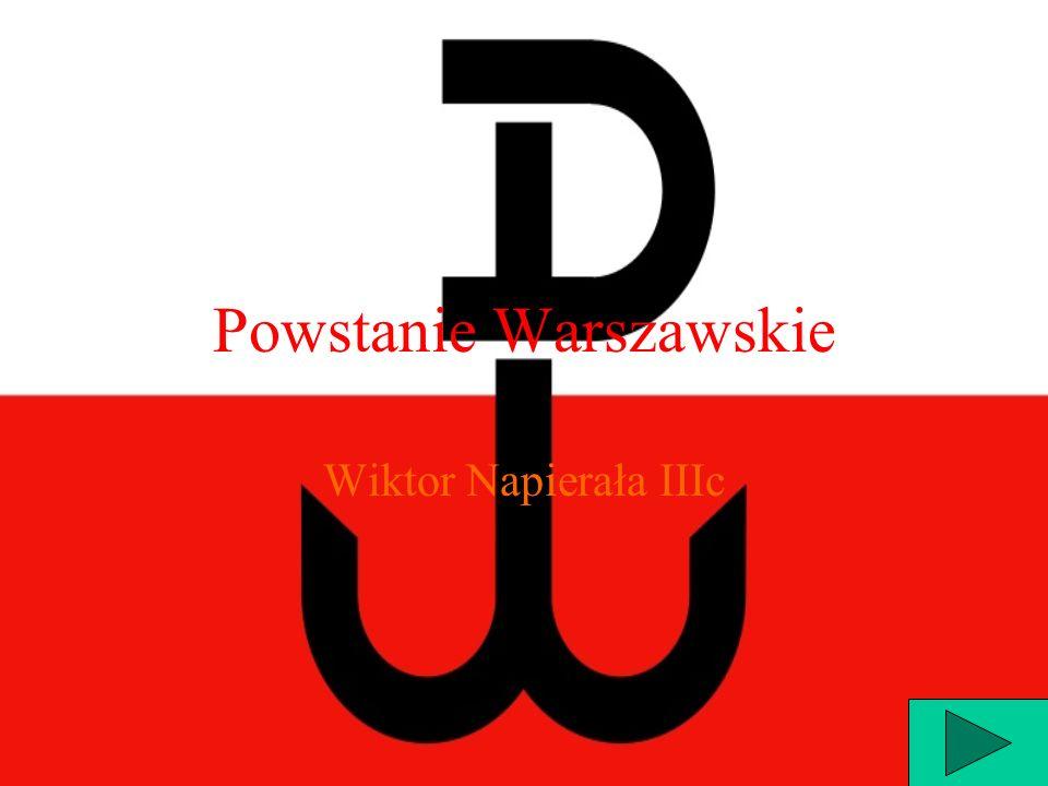 Powstanie Warszawskie Wiktor Napierała IIIc