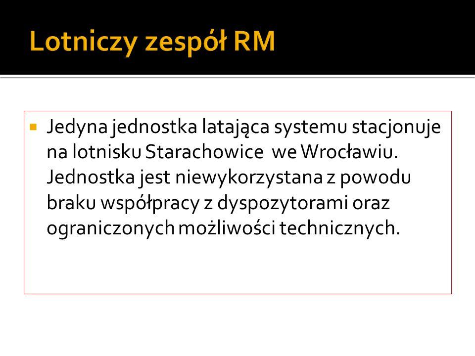 Lotniczy zespół RM Jedyna jednostka latająca systemu stacjonuje na lotnisku Starachowice we Wrocławiu. Jednostka jest niewykorzystana z powodu braku w