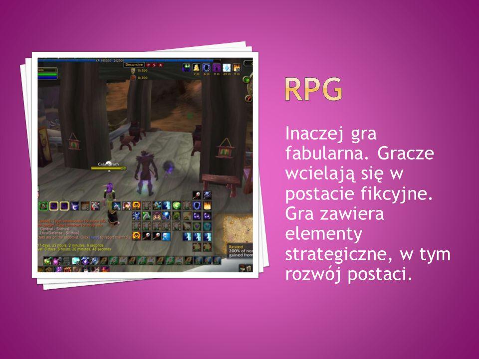 Inaczej gra fabularna. Gracze wcielają się w postacie fikcyjne. Gra zawiera elementy strategiczne, w tym rozwój postaci.