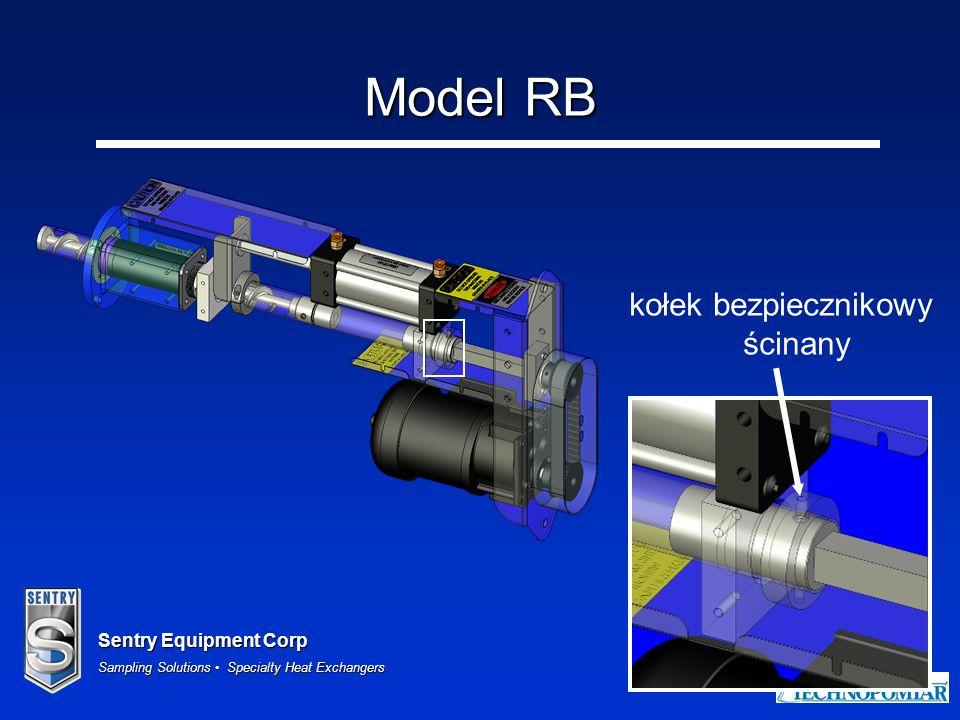 Sentry Equipment Corp Sampling Solutions Specialty Heat Exchangers 41 Model RB kołek bezpiecznikowy ścinany