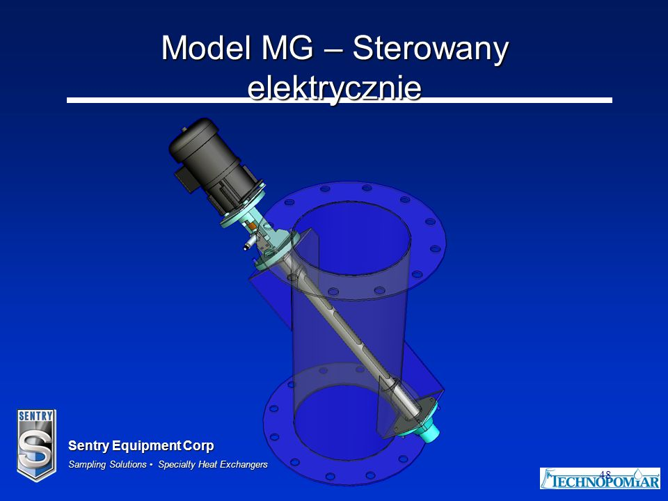 Sentry Equipment Corp Sampling Solutions Specialty Heat Exchangers 48 Model MG – Sterowany elektrycznie