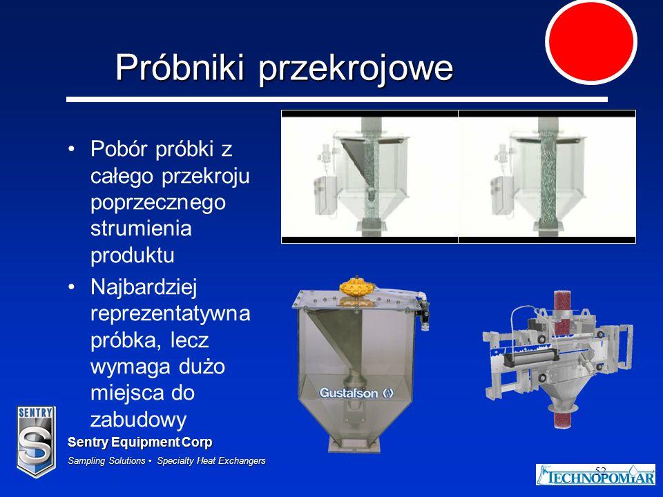 Sentry Equipment Corp Sampling Solutions Specialty Heat Exchangers 52 Próbniki przekrojowe Pobór próbki z całego przekroju poprzecznego strumienia pro