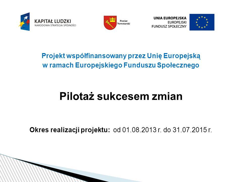 Informacje o powiatowym projekcie wdrożeniowym: Priorytet: III Wysoka jakość systemu oświaty Działanie: 3.5.