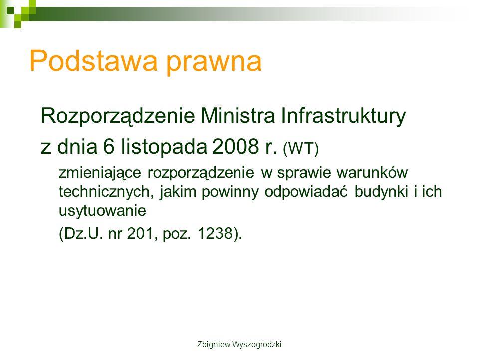Podstawa prawna Rozporządzenie Ministra Infrastruktury z dnia 6 listopada 2008 r.