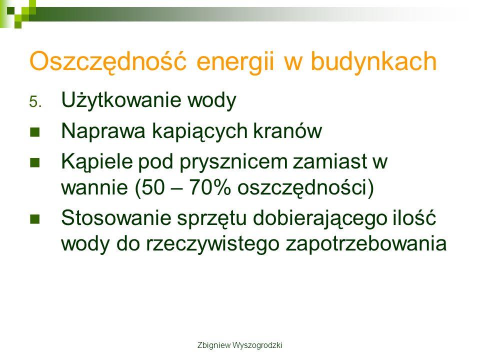 Oszczędność energii w budynkach 5.