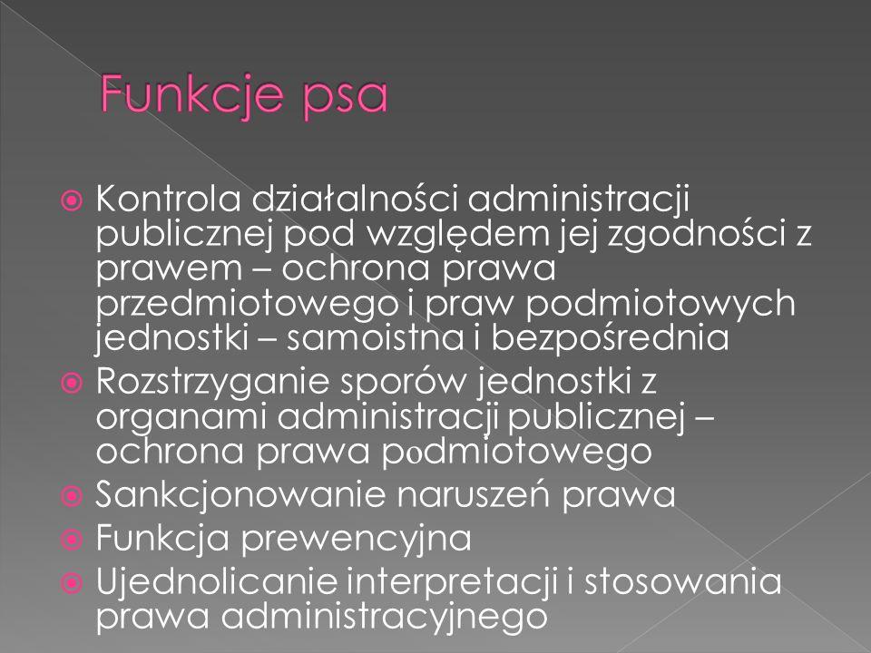 Kontrola działalności administracji publicznej pod względem jej zgodności z prawem – ochrona prawa przedmiotowego i praw podmiotowych jednostki – samo