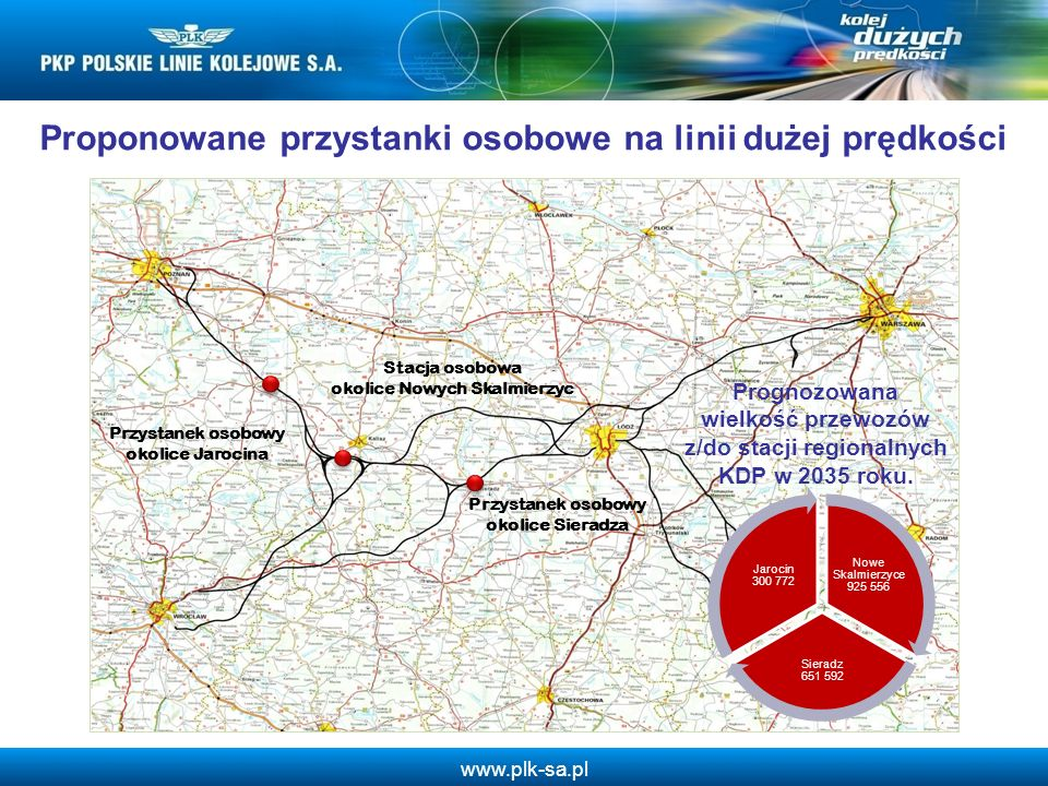 www.plk-sa.pl Przystanek osobowy okolice Sieradza Stacja osobowa okolice Nowych Skalmierzyc Przystanek osobowy okolice Jarocina Proponowane przystanki