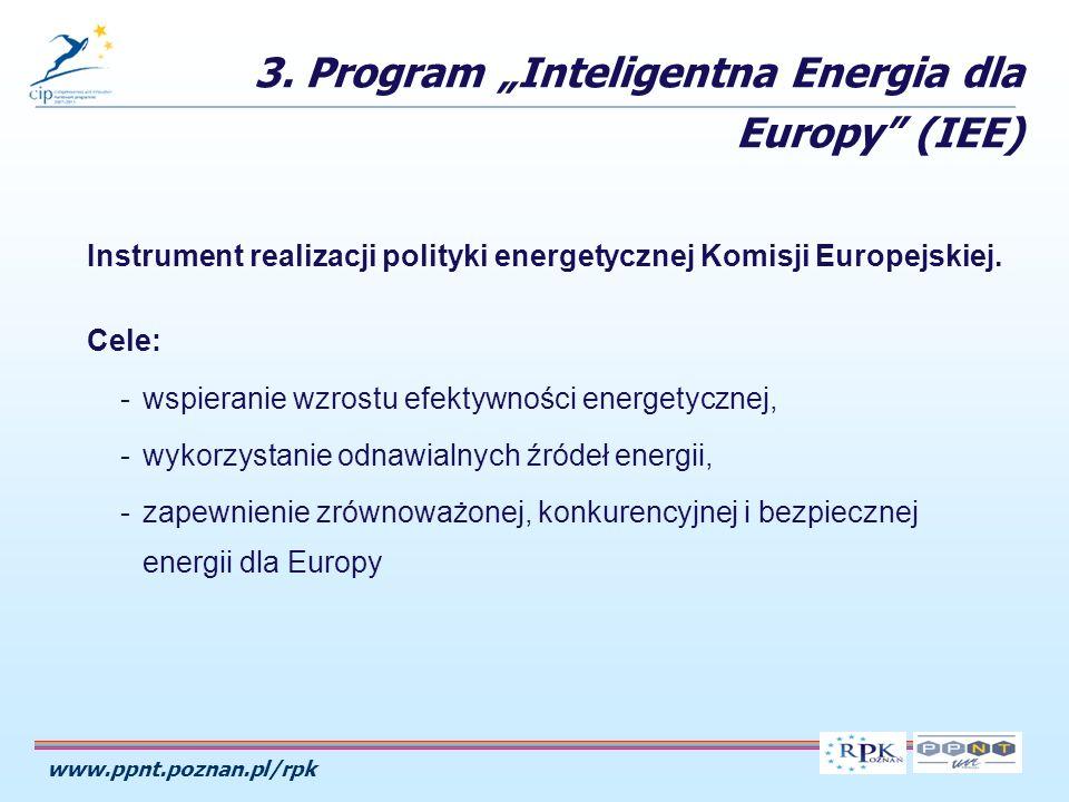 www.ppnt.poznan.pl/rpk Instrument realizacji polityki energetycznej Komisji Europejskiej.
