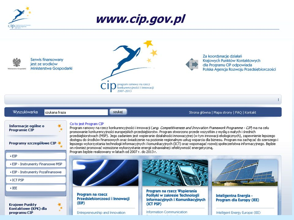 www.ppnt.poznan.pl/rpk www.cip.gov.pl