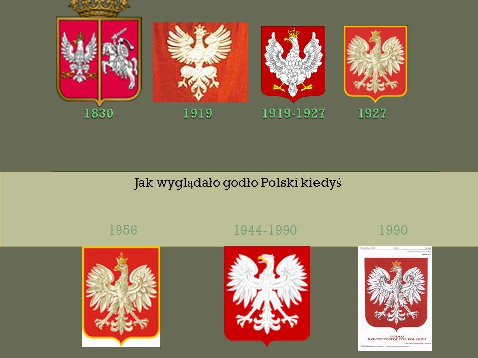 Jak wygl ą da ł o god ł o Polski kiedy ś 1956 1944-1990 1990