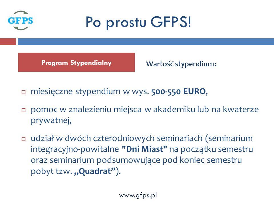 Program Stypendialny Po prostu GFPS. miesięczne stypendium w wys.