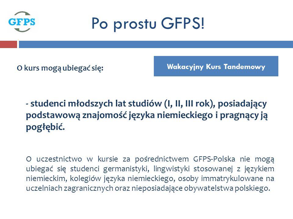 Wakacyjny Kurs Tandemowy Po prostu GFPS.